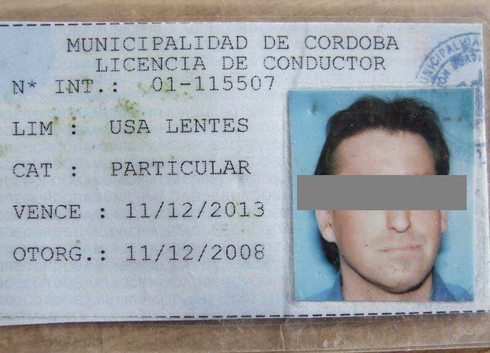 driver's license in Argentina
