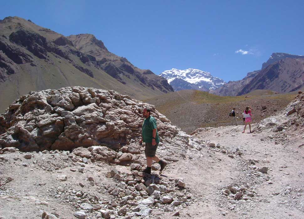 Sunny view of the Aconcagua