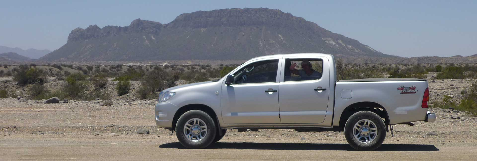 Toyota Hilux in the desert